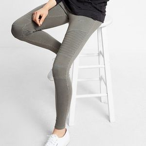 Express Garment Dyed Moto Ankle Leggins